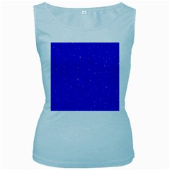 Awesome Allover Stars 01f Women s Baby Blue Tank Top