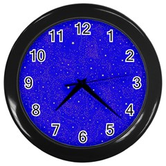 Awesome Allover Stars 01f Wall Clocks (Black)