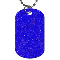 Awesome Allover Stars 01f Dog Tag (One Side)