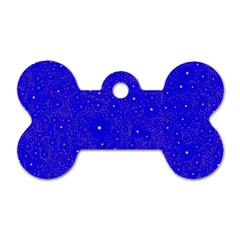 Awesome Allover Stars 01f Dog Tag Bone (One Side)