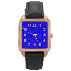 Awesome Allover Stars 01f Rose Gold Leather Watch