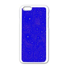 Awesome Allover Stars 01f Apple iPhone 6/6S White Enamel Case