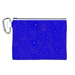 Awesome Allover Stars 01f Canvas Cosmetic Bag (L)