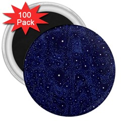 Awesome Allover Stars 01b 3  Magnets (100 pack)