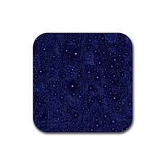 Awesome Allover Stars 01b Rubber Square Coaster (4 pack)