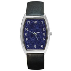 Awesome Allover Stars 01b Barrel Style Metal Watch