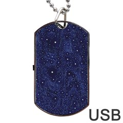 Awesome Allover Stars 01b Dog Tag USB Flash (Two Sides)