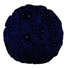 Awesome Allover Stars 01b Large 18  Premium Round Cushions