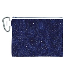 Awesome Allover Stars 01b Canvas Cosmetic Bag (L)