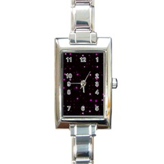 Awesome Allover Stars 02d Rectangle Italian Charm Watch