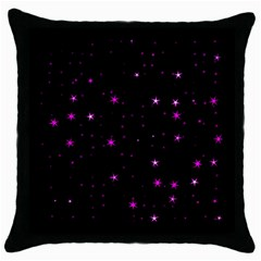 Awesome Allover Stars 02d Throw Pillow Case (Black)