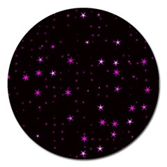Awesome Allover Stars 02d Magnet 5  (round)