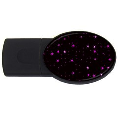 Awesome Allover Stars 02d USB Flash Drive Oval (2 GB)