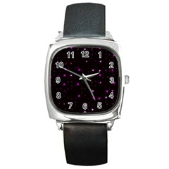 Awesome Allover Stars 02d Square Metal Watch