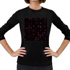 Awesome Allover Stars 02d Women s Long Sleeve Dark T-Shirts