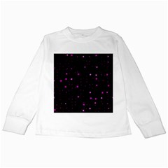 Awesome Allover Stars 02d Kids Long Sleeve T-Shirts