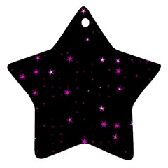 Awesome Allover Stars 02d Star Ornament (Two Sides)