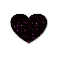 Awesome Allover Stars 02d Rubber Coaster (Heart)