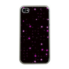 Awesome Allover Stars 02d Apple iPhone 4 Case (Clear)