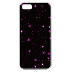Awesome Allover Stars 02d Apple Seamless iPhone 5 Case (Clear)