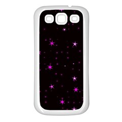 Awesome Allover Stars 02d Samsung Galaxy S3 Back Case (White)