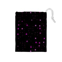 Awesome Allover Stars 02d Drawstring Pouches (Medium)