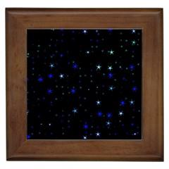Awesome Allover Stars 02 Framed Tiles