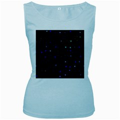 Awesome Allover Stars 02 Women s Baby Blue Tank Top