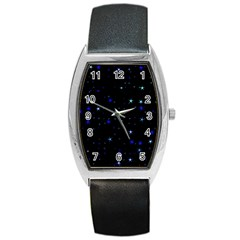 Awesome Allover Stars 02 Barrel Style Metal Watch
