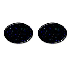 Awesome Allover Stars 02 Cufflinks (Oval)