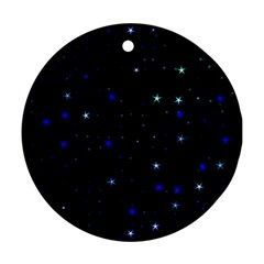 Awesome Allover Stars 02 Round Ornament (Two Sides)