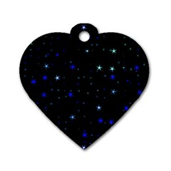 Awesome Allover Stars 02 Dog Tag Heart (one Side)