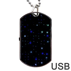 Awesome Allover Stars 02 Dog Tag USB Flash (One Side)