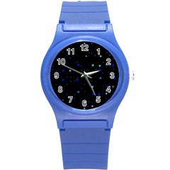 Awesome Allover Stars 02 Round Plastic Sport Watch (S)