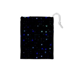 Awesome Allover Stars 02 Drawstring Pouches (Small)