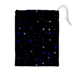 Awesome Allover Stars 02 Drawstring Pouches (Extra Large)