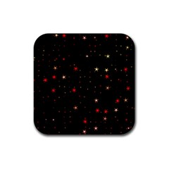 Awesome Allover Stars 02b Rubber Square Coaster (4 pack)