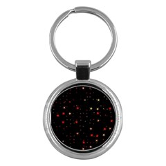 Awesome Allover Stars 02b Key Chains (Round)