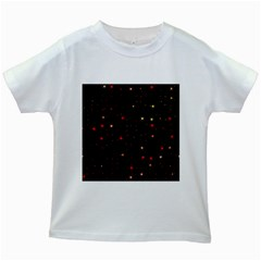 Awesome Allover Stars 02b Kids White T-Shirts