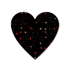 Awesome Allover Stars 02b Heart Magnet