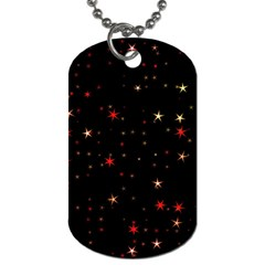 Awesome Allover Stars 02b Dog Tag (One Side)