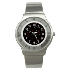 Awesome Allover Stars 02b Stainless Steel Watch