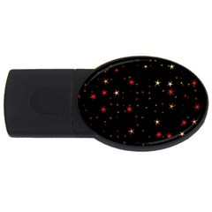 Awesome Allover Stars 02b USB Flash Drive Oval (4 GB)