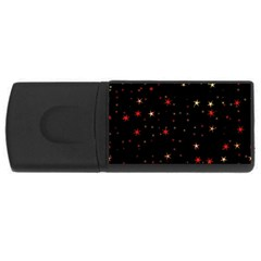 Awesome Allover Stars 02b USB Flash Drive Rectangular (4 GB)