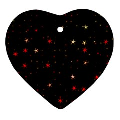 Awesome Allover Stars 02b Heart Ornament (Two Sides)