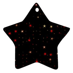Awesome Allover Stars 02b Star Ornament (Two Sides)