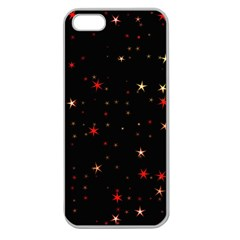 Awesome Allover Stars 02b Apple Seamless iPhone 5 Case (Clear)