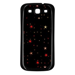 Awesome Allover Stars 02b Samsung Galaxy S3 Back Case (Black)