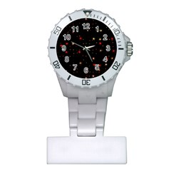 Awesome Allover Stars 02b Plastic Nurses Watch