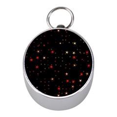 Awesome Allover Stars 02b Mini Silver Compasses